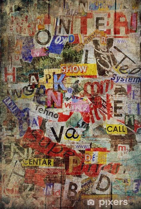 Pixerstick Sticker Grunge getextureerde achtergrond - Thema's