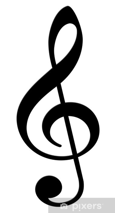 Adesivo Chiave Di Violino Su Uno Sfondo Bianco Pixers Viviamo