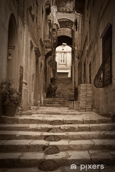 Vinilo Pixerstick Fotos retro de antigua calle - Europa