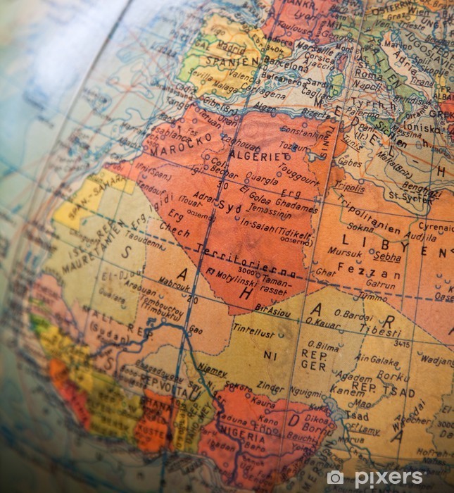 Wall Mural - Vinyl Africa and Europe Map - Part of old globe