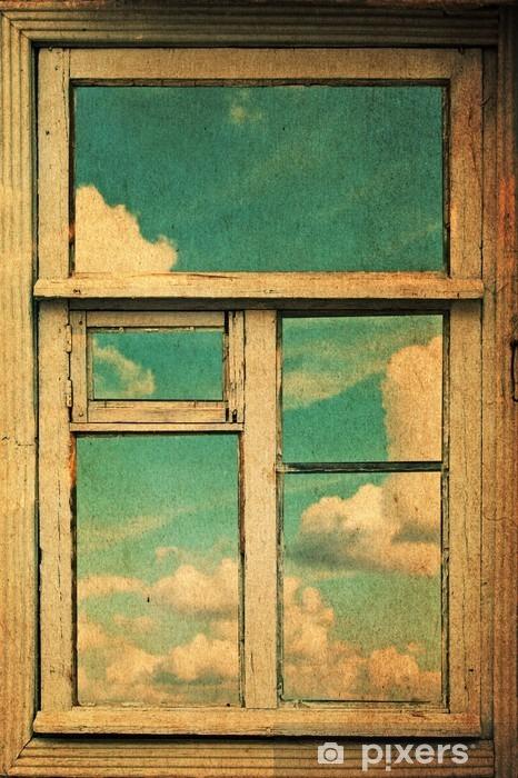 Fototapeta winylowa Obraz retro z okna - Style