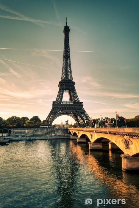 Vinilo Pixerstick Tour Eiffel - París - Francia - Temas