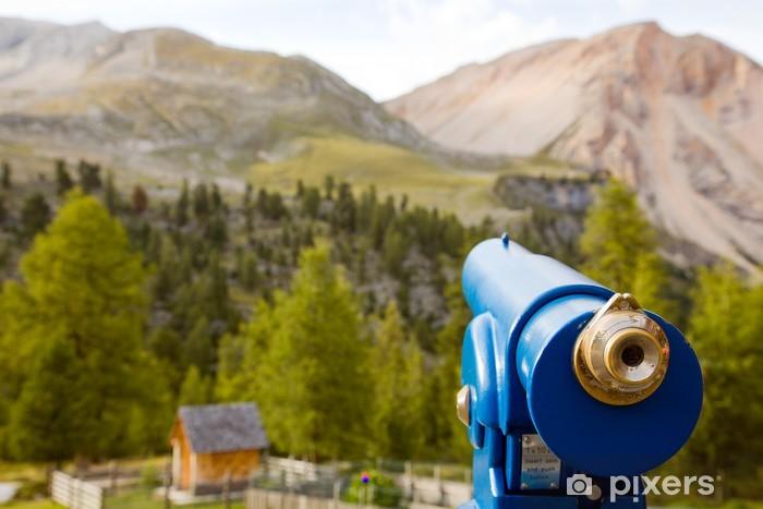Naklejka Pixerstick Teleskop - Góry