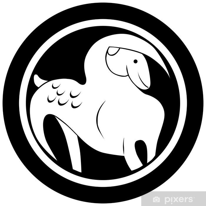 Naklejka Znak Zodiaku Koziorożec Tatuaż Pixerstick