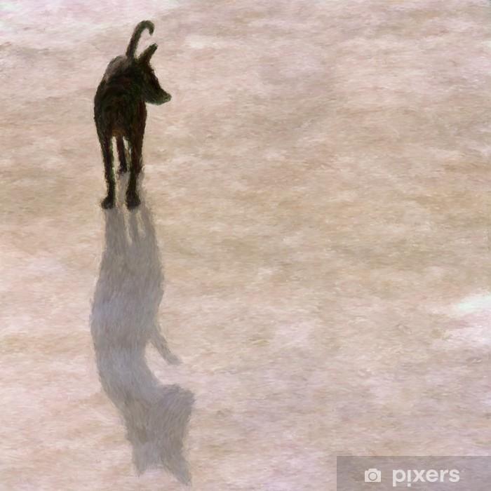 Poster Schaduw hond - Zoogdieren