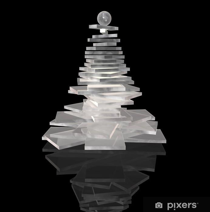 Moderner Weihnachtsbaum.Fototapete Moderne Weihnachtsbaum Farbe Ice
