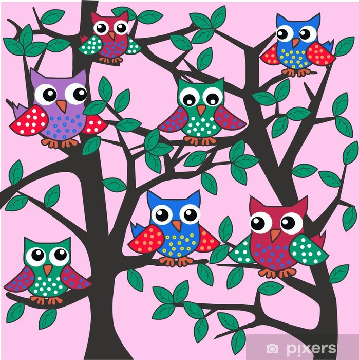 Plakat Owl background - Tematy