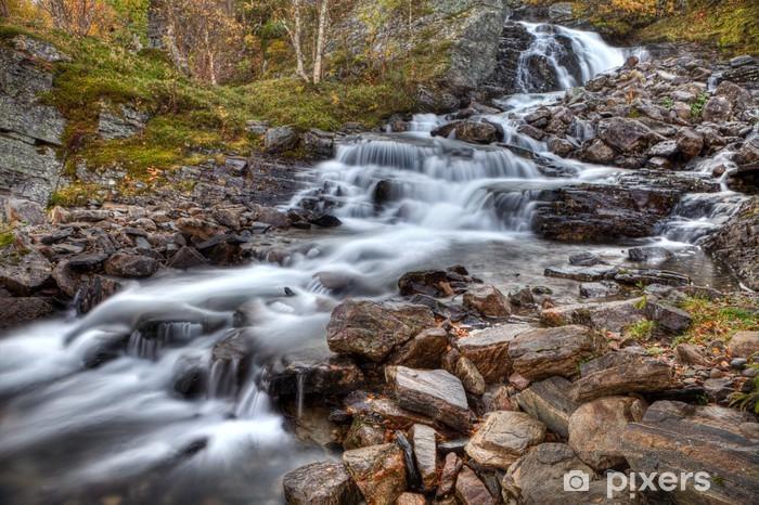 Naklejka Pixerstick Silverfallet w Szwecji - Jämtland - Europa