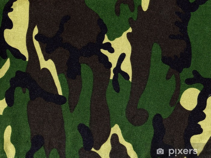 Carta Da Parati Mimetica.Carta Da Parati In Vinile Militare Motivo Mimetico Cachi Su Tessuto