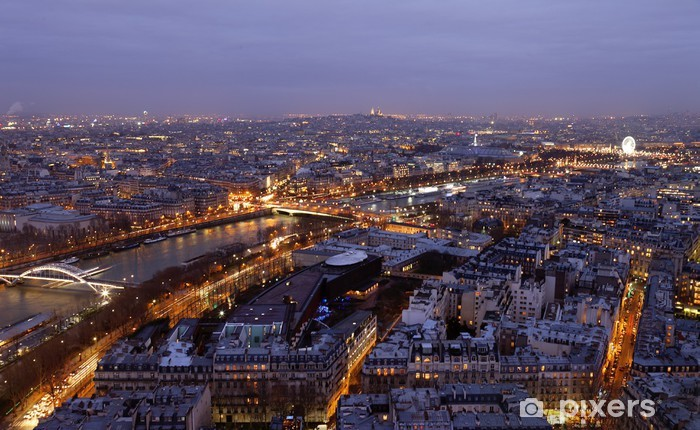 Fototapeta winylowa Widok na paryz - Wakacje