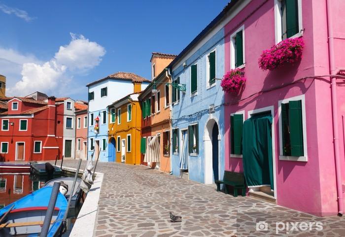 Fotomural Estándar Casas coloridas de Burano - Ciudades europeas