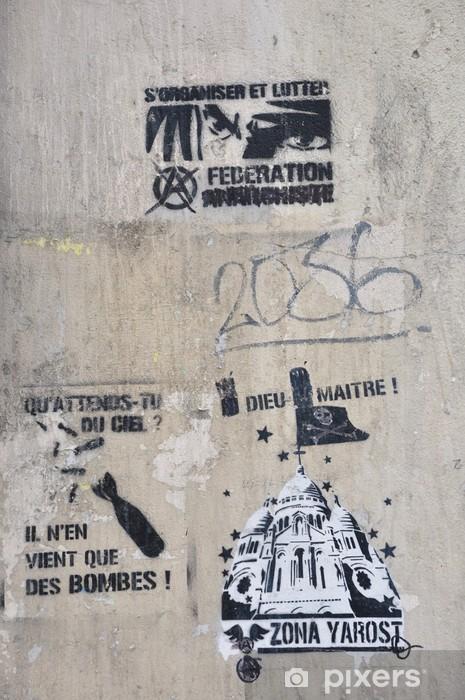 Papier peint vinyle Graffiti sur la butte - Art et création
