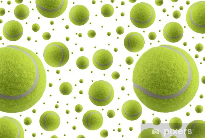 Tennis balls isolated on white background Pixerstick Sticker - Tennis