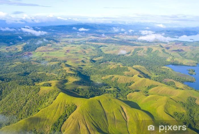 Papier peint vinyle Photo aérienne de la côte de la Nouvelle-Guinée - Autres Autres