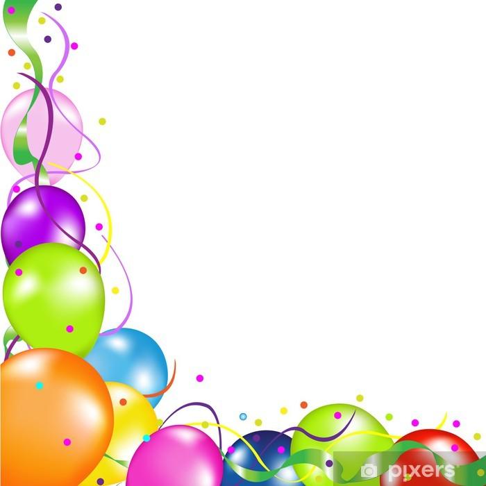 Fotomural Estándar Fondo Con Globos - Celebraciones