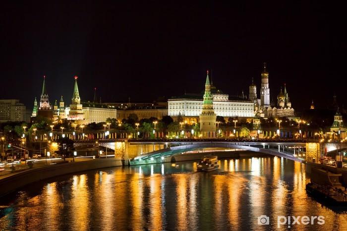 Vinyl-Fototapete Ночная Москва. Кремль и Большой Каменный мост. - Moskau