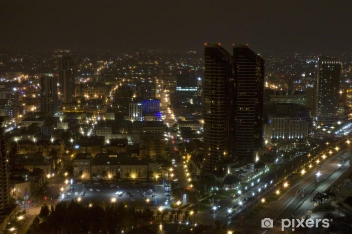 Vinyl-Fototapete Nacht-Bild von San Diego von oben - Stadt