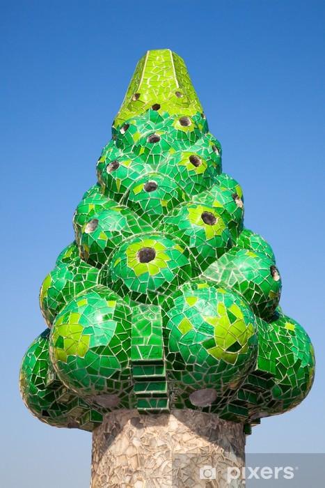 Fototapeta winylowa Gaudiego komin, bacelona, hiszpania - Miasta europejskie