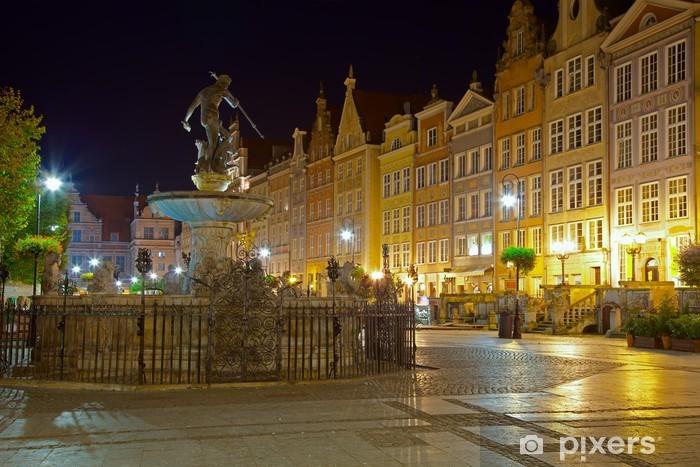 Fototapeta winylowa Gdańsk nocą, Polska. - Tematy