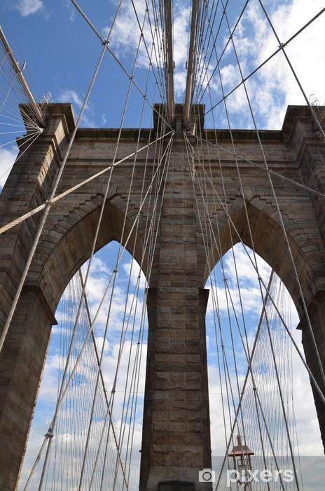 Naklejka Pixerstick Pont de Brooklin - Miasta amerykańskie
