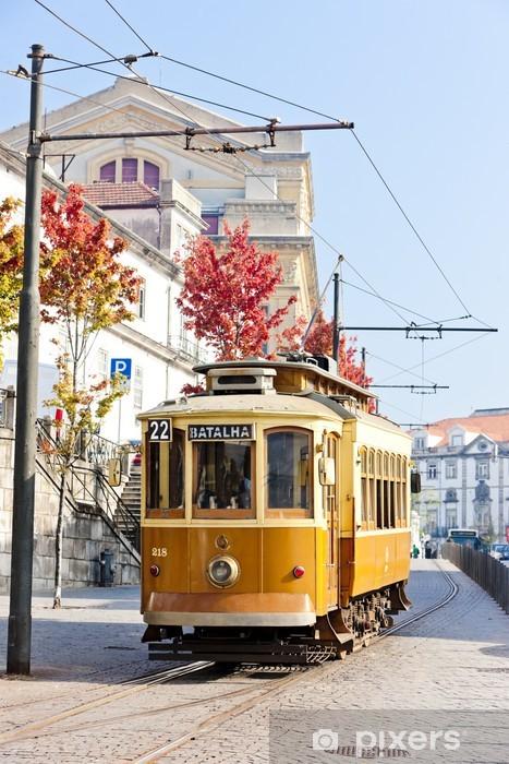 tram, Porto, Portugal Pixerstick Sticker - Europe