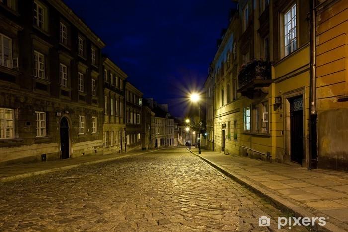 Sticker Pixerstick La vieille ville la nuit - Thèmes