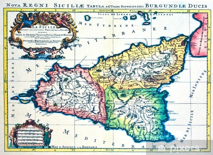 Keskiaikainen Kartta Sisilia Tapetti Pixers Elamme Muutoksille