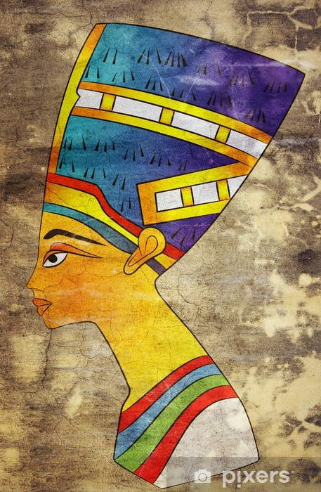 Sticker Pixerstick Nefertiti - Queen of Ancient Egypt - Art et création