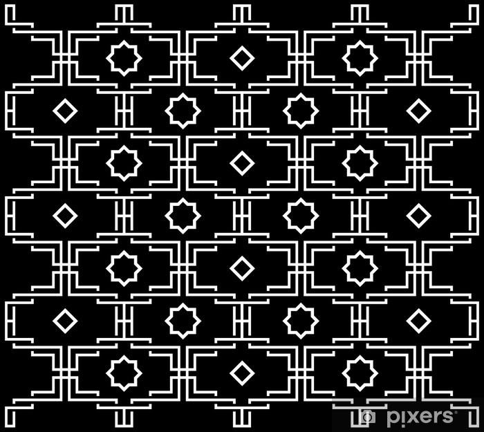 Fototapeta winylowa Czarno-biały wzór - Style