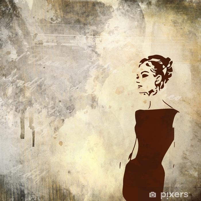 Vinyl-Fototapete Retro Frau - Gefühle, Emotionen und Geisteshaltung