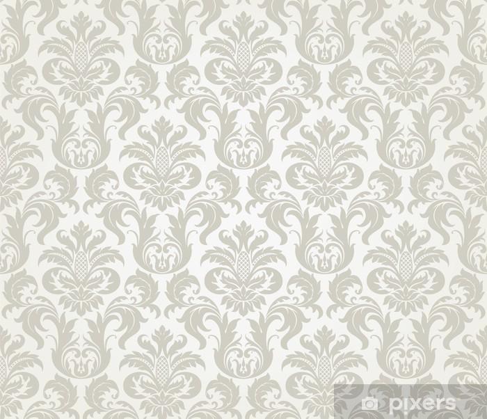 Sticker Pixerstick Vector seamless pattern floral de damassé - Thèmes