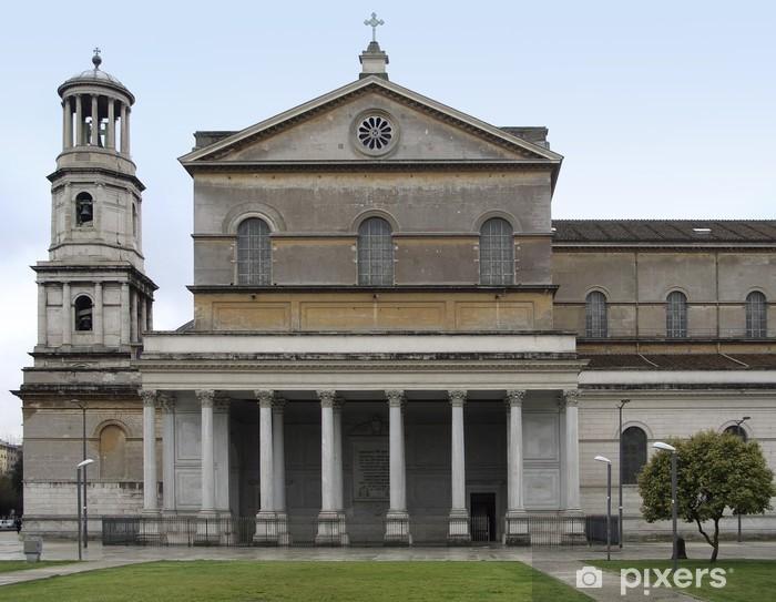 Adesivo Pixerstick Basilica di San Paolo Fuori le Mura - Città europee