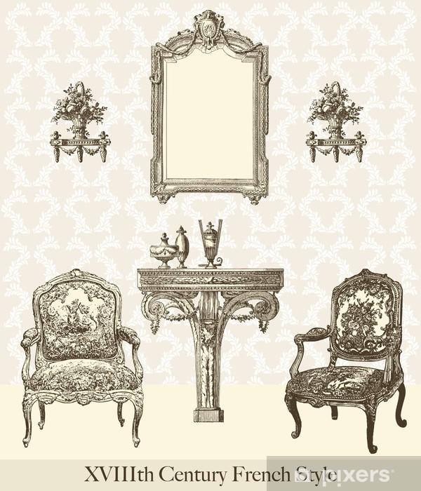 Papier peint vinyle Meubles 18ème siècle - Maisons et jardins