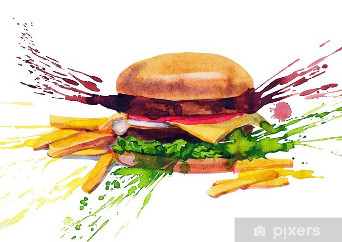 Pixerstick Aufkleber Leckeres Sandwich - Themen