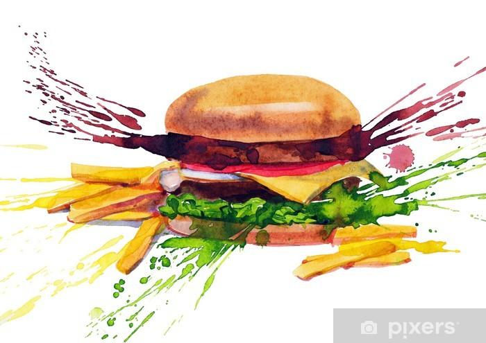 Sticker Pixerstick Savoureux sandwich - Thèmes