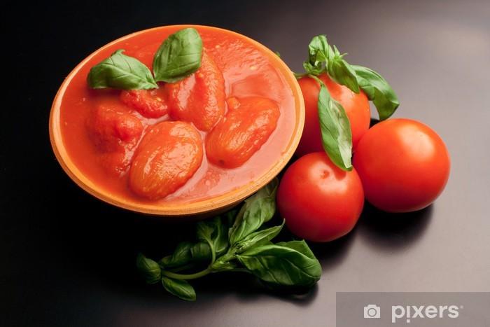 Vinyl-Fototapete Geschälte Tomaten - Gerichte
