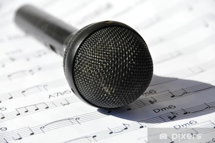 Naklejka Pixerstick Śpiewać - Muzyka