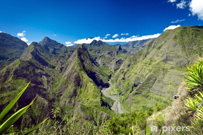 Montagnes du cirque de Mafate - Ile de La Réunion Lack Table Veneer - Mountains