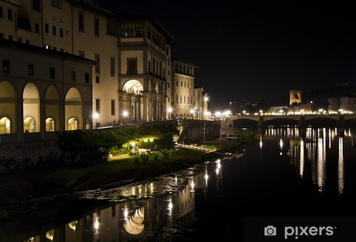 Fototapeta winylowa Florence w nocy - Europa