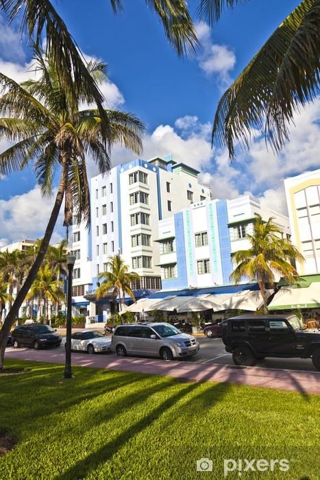 Vinyl-Fototapete Schöne Häuser im Art Deco Stil in South Miami - Amerika