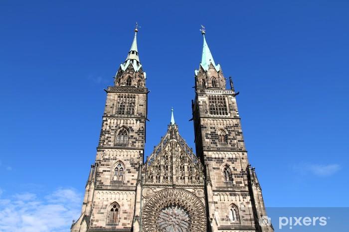 Naklejka Pixerstick Kościół św Lorenza w Norymberga - Europa