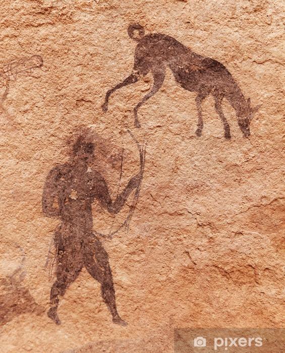 Rock paintings of Tassili N'Ajjer, Algeria Pixerstick Sticker - Africa