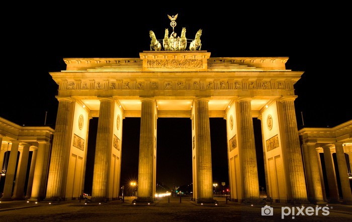 BRANDENBURG GATE, Berlin, Germany Pixerstick Sticker - Germany