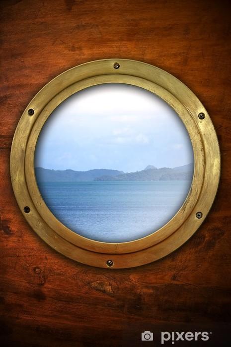 Vinyl Fotobehang Patrijspoort met uitzicht op de oceaan - Boten