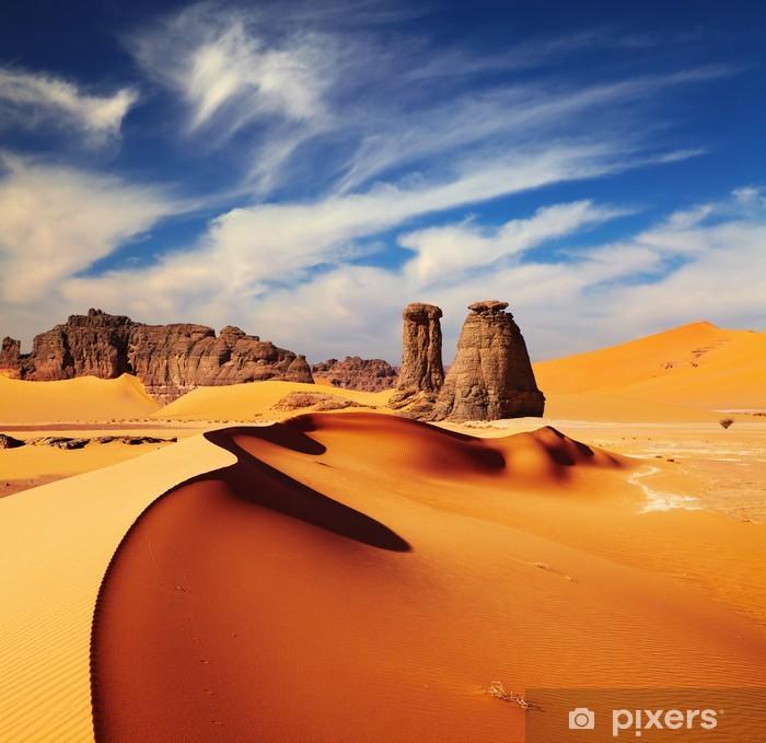 Vinyl Fotobehang Sahara woestijn, Algeria - Thema's
