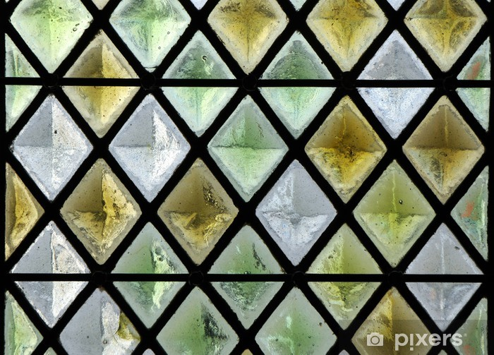 Stained Glass Window Vinyl Wall Mural - Textures