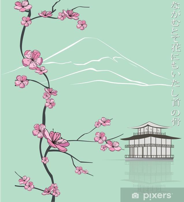 Pixerstick Aufkleber Frühling blühenden Zweig - Jahreszeiten
