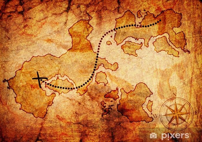 Old Treasure Map Sticker Pixerstick