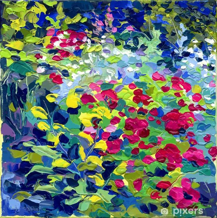 Vinyl-Fototapete Oil painting vector illustration - Themen