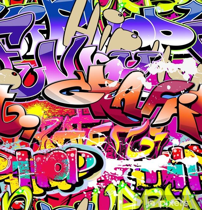 Sticker Pixerstick Graffiti de fond sans soudure. Art urbain hip-hop - Thèmes